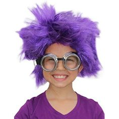 Extra Informations Afro Wig Purple Minion Costume Purple Minion Wig Minion Goggles Minion Costume for  Halloween Gifts Idea Online for  #Halloween Gifts Idea Online