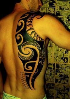maori tattoos on back #tattoos