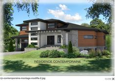 Moderne Beautiful World, Facade, Mansions, House Styles, Home Decor, Modern, Decoration Home, Manor Houses, Room Decor