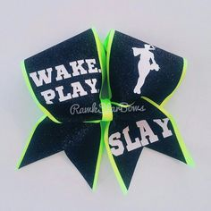 Slay Softball Bow Cheer Bow
