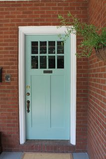 front door painted st. lucia teal by benjamin moore. Love this color! My cousin told me about this color (she did her front door this color) and it's lovely.