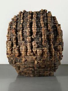 Ursula Von Rydingsvard, composite sculpture, cedar