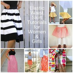 Life is {Sew} Daily: Tutorial Roundup {Elastic Waist Skirts}