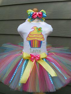 Custom Tutus TUTTI FRUTTI  tutu set with by fairyfashions on Etsy, $65.00