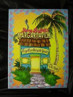 3e1260aec8c0 Amazon.com  18 x 24 Jimmy Buffett Margaritaville   Flip Flop Repair Shop
