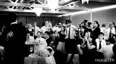 Sergeants Mess - Inlighten Photography-  Fun wedding reception captured in black & white.