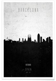 Barcelona Contemporary Cityscape - Calm The Ham - Premium poster