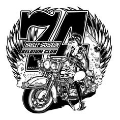 Design B.H.D.C.74 Harley-Davidson Belgium Club...2018!!!
