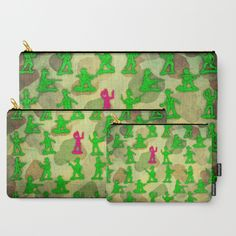 Little Green Army Unicorn Carry-All Pouch