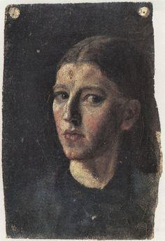 Anna Ancher -Self Portrait in a Mirror (1877)