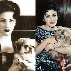 الأم الأميرة فوزية فؤاد والإبنة الأميرة شاهيناز بهلوي