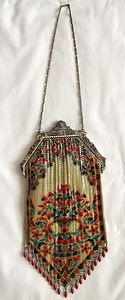 Beautiful flapper purse, antique Mandalian