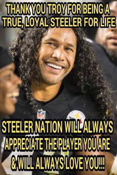 Thank You Troy. Love you always Pittsburgh Steelers Wallpaper, Pittsburgh Steelers Logo, Pittsburgh City, Pittsburgh Sports, Best Football Team, Steelers Football, Steelers Tattoos, Here We Go Steelers, Troy Polamalu