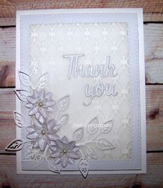 Ann Greenspan's Crafts: White Thank You