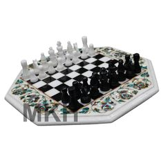 Inlaid Chess Or Games Board Set On Legs Occasional Table Other