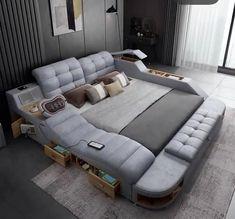 Small House Interior Design, Small Room Design, Home Room Design, Dream Home Design, Bedroom Closet Design, Bedroom Furniture Design, Master Bedroom Design, Bedroom Decor, Smart Bed