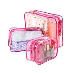 42b05c677 Lumanuby 3 neceseres impermeables PVC transparentes bolsos de higiene  monederos para viajes maquillaje bolso para mujeres