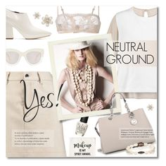 """Neutral Ground"" by xiandrina ❤ liked on Polyvore featuring OPI, MM6 Maison Margiela, MICHAEL Michael Kors, Marni, Seafolly, Devon Page McCleary and La Perla"