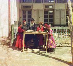 Jewish Children and Teacher: Samarkand, Uzbekistan 1905-1915 | Photographium | Historic Photo Archive