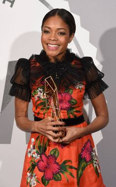The British Independent Film Awards from Party Pics: London  Moonlight star Naomie Harris takes home the Variety Award.