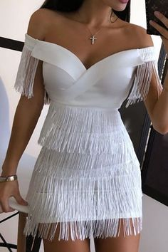 Classy Dress, Classy Outfits, Stylish Outfits, Sexy White Dress, Mode Outfits, Dress Outfits, Fashion Outfits, Dress Clothes, Fashion Games