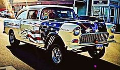Love the #redwhiteandblue on this car! #ClassicCars #CTins