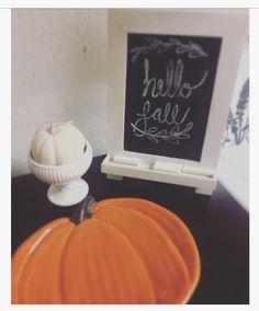 Fall decor, fall2016, autumn, Halloween, pumpkin, chalkboard 🕸🍂🍁🎃
