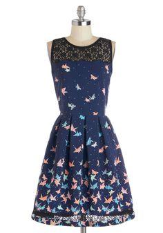 Up to Plus Size - Flight of Fanciful Dress | Mod Retro Vintage Dresses | ModCloth.com