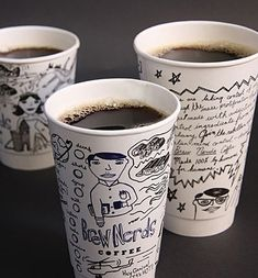 Coffee Cup Design - Brew Nerds and Kernal Kustard