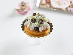Chocolate and Vanilla St Honoré (French Pastry) - 12th Scale Miniature Food