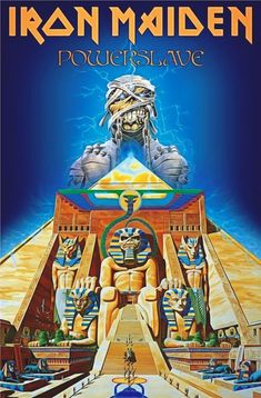 Iron Maiden Textile Flag Powerslave Album Cover Official Poster X Iron Maiden Band, Arte Heavy Metal, Heavy Metal Bands, Pet Shop Boys, Rock Posters, Band Posters, Concert Posters, Metallica, Hard Rock