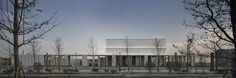 Cultural Center of Beicheng Central Park in Hefei,The facade facing the central park. Image © Yao Li, Sui Sicong