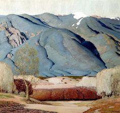 Landscape Art, Landscape Paintings, Illustrations, Illustration Art, Maynard Dixon, Art Occidental, Taos New Mexico, American Realism, Southwestern Art