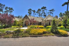 Grand Pebble Beach Home On A Level Acre Site Located Within Walking Distance To The Lodge Equestrian Center And Golf Courses