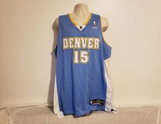 NBA Reebok Denver Nuggets Carmello Anthony  15 Adult Blue XL Throwback  Jersey  Reebok   7c8650d6c