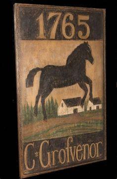Primitive Colonial Antique Repro Tavern Trade Inn Sign