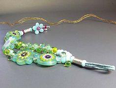 Artist Lampwork Bracelet  Sparkling Sunny by ManuelasGlassArt, $255.00
