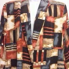 EVERYTHING BOGO FREE ⭐️ Womens Blazer Jacket Kensington Square🔱 Blazer Jacket Geometric Print Kensinton Square Jackets & Coats Blazers