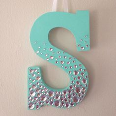 Bedazzled Wooden Letter by PittsburghPrepster on Etsy