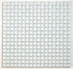 Glazzio Tiles White Glass Glacier Checkerboard Mosaic