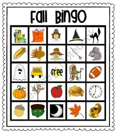 Magic image with fall bingo printable