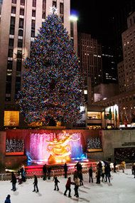 I saw it when it was a plain tree, maybe some day all lit up like this. Rockefeller Center, NYC