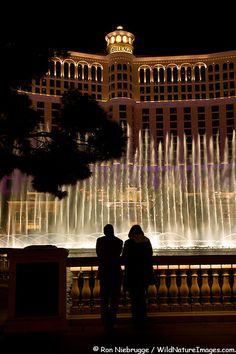 Dancing waters show in front of the Bellagio Hotel and Casino, Las Vegas, Nevada. I didn't get to stay at the Bellagio, but it's my favorite. So beautiful and elegant inside!