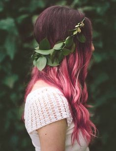 Pink ombra