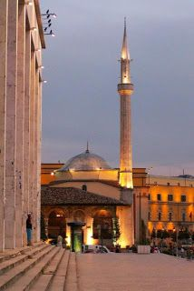 Et'hem Bey Mosque in Albania  This mosque is located in the capital Tirana of Albania. It was built in 1823 but was opened on January 18, 1991 after the fall of communism in Albania. Many tourists around the world visit this eloquent mosque everyday.
