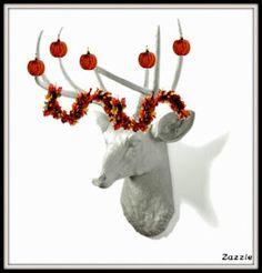 Decrate your Deer head for autumns #design #blog #ideas