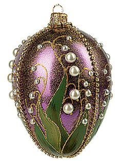 Faberge Inspired Purple Lilies Of The Valley Egg Polish Glass Christmas Easter Nament PINNACLE PEAK,http://www.amazon.com/dp/B00AMWHK8G/ref=cm_sw_r_pi_dp_CUTDsb175Q0E6415