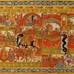A unique scroll-painting art of Rajasthan that has religious significance.