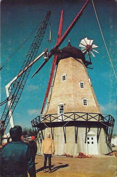Postcard IA Iowa Elk Horn Danish Windmill Shelby County ca 1970s | eBay