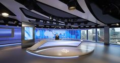 The new Al Jazeera studio in London is designed to take advantage of the views from the Shard
